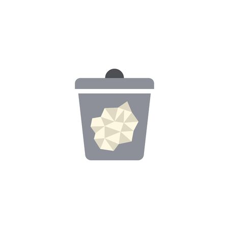paper trash creative icon. From Recycling icons collection. Isolated paper trash sign on white background