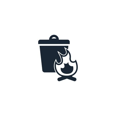burnable trash creative icon. From Recycling icons collection. Isolated burnable trash sign on white background