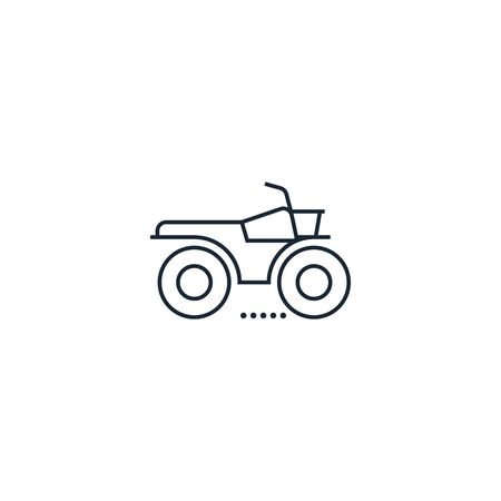 ATV creative icon. From Transport icons collection. Isolated ATV sign on white background Illustration