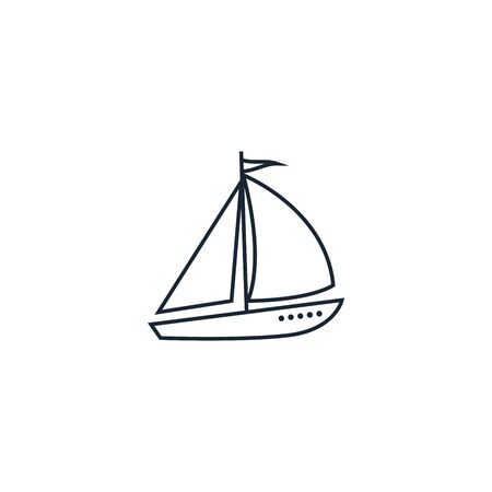 Sail boat creative icon. From Travel icons collection. Isolated Sail boat sign on white background
