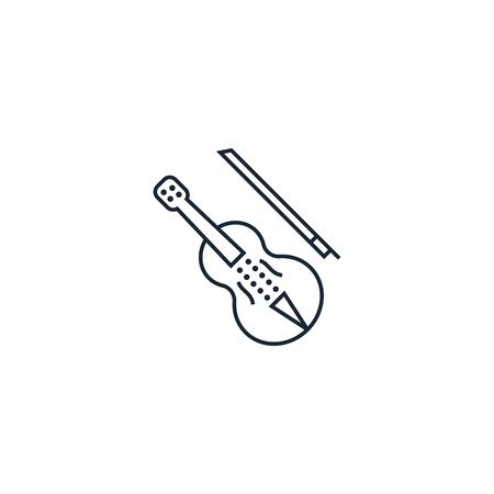 violin creative icon. From Music icons collection. Isolated violin sign on white background Çizim