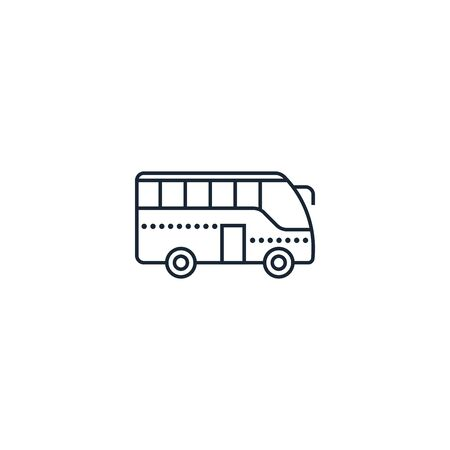 Bus creative icon. From Travel icons collection. Isolated Bus sign on white background Illustration
