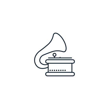 gramophone creative icon. From Music icons collection. Isolated gramophone sign on white background