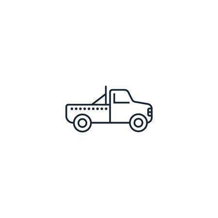 Pickup creative icon. From Transport icons collection. Isolated Pickup sign on white background Banque d'images - 137890879