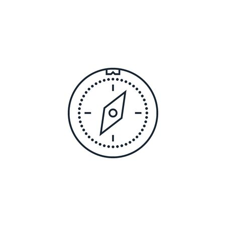 Compass creative icon. From Travel icons collection. Isolated Compass sign on white background Ilustração