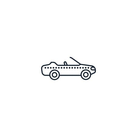 cabriolet creative icon. From Transport icons collection. Isolated cabriolet sign on white background Zdjęcie Seryjne - 137893636