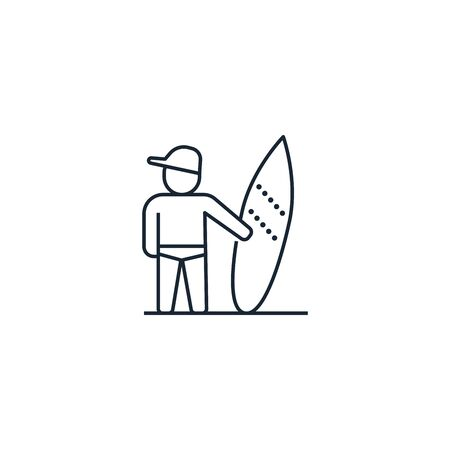 Surfer creative icon. From Travel icons collection. Isolated Surfer sign on white background