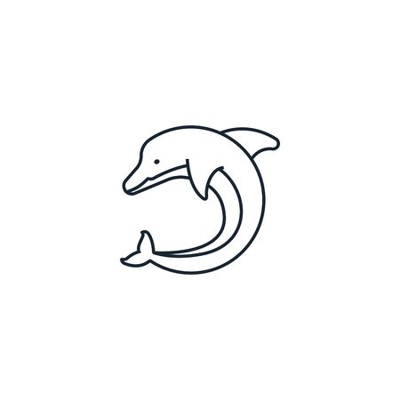 Dolphin creative icon. From Ecology icons collection. Isolated Dolphin sign on white background Illustration