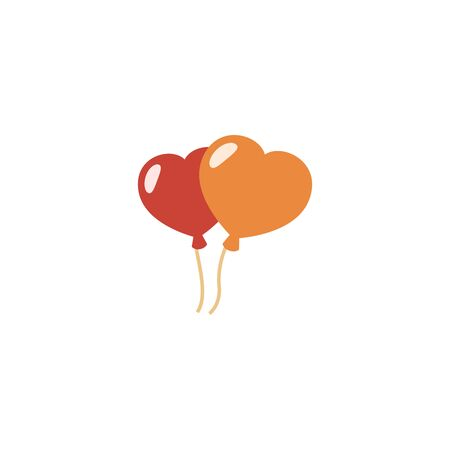 balloons creative icon. From Valentines Day icons collection. Isolated balloons sign on white background