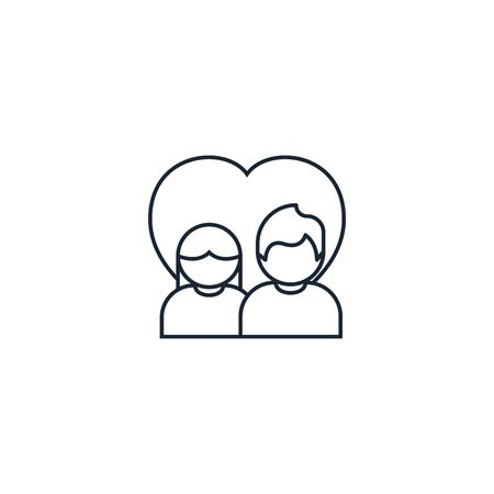 couple creative icon. From Valentines Day icons collection. Isolated couple sign on white background