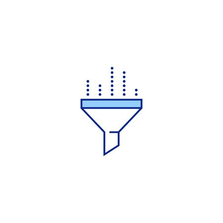 filter creative icon. From Analytics Research icons collection. Isolated filter sign on white background