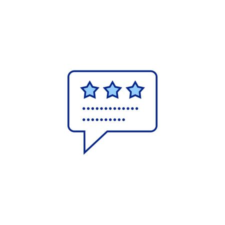 review creative icon. From Analytics Research icons collection. Isolated review sign on white background