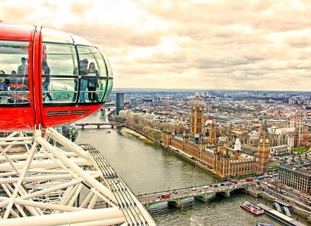 ロンドン ロンドン ・ アイの上からビュー
