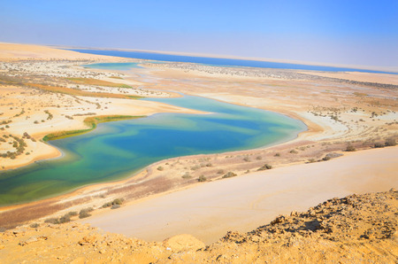 in the dessert, Egypt, salty lakes