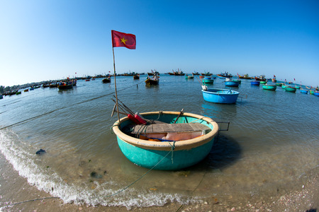 fishing boats: Wooden fishing boats in muine, Vietnam