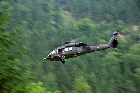 blackhawk helicopter: Blackhawk in action Stock Photo