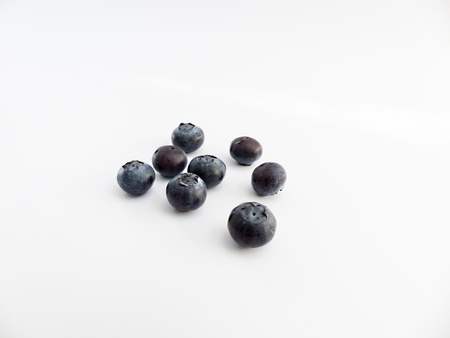 free plate: Blueberries as a free plate on white background