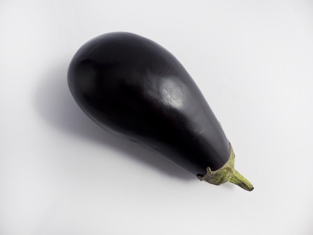 exempted: Individual eggplant exempted white background