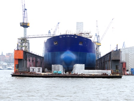 Ship in dock in Hamburg Harbour   photo