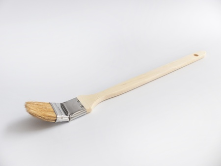 flat brush: Flat brush with a wooden handle as Cut    Stock Photo