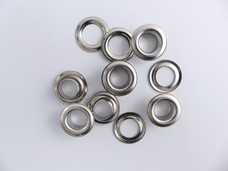 Many silver rivets as Cut