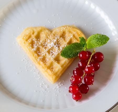 homemade heart-shaped waffle photo