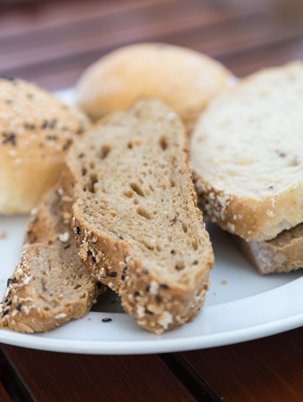 trillion: Various types of bread on a plate