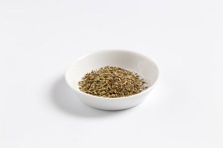 herbs de provence: Provencal herbs in a bowl as a Cut.