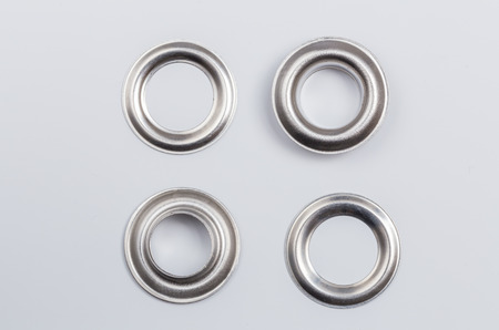 Rivets isolated on a light background as Cut.