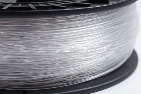 pva: Filament for 3D Printer crystal clear bright background.