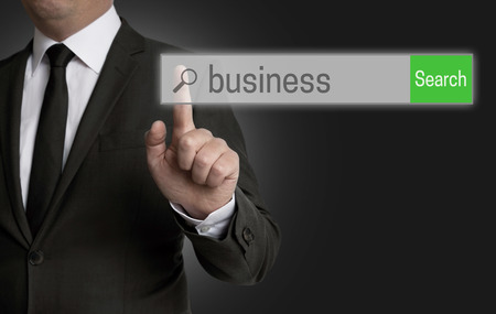 browser business: Business browser is operated by businessman.