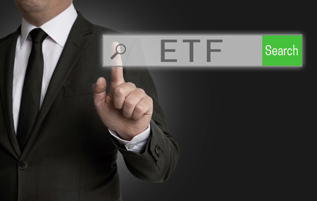 internet browser: ETF internet browser is operated by businessman.