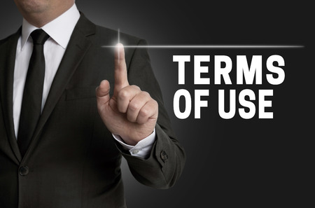 Conditions d'utilisation tactile est exploité par affaires. Banque d'images - 41958766