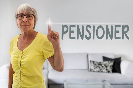 spaciousness: pensioner touchscreen is shown by senior.