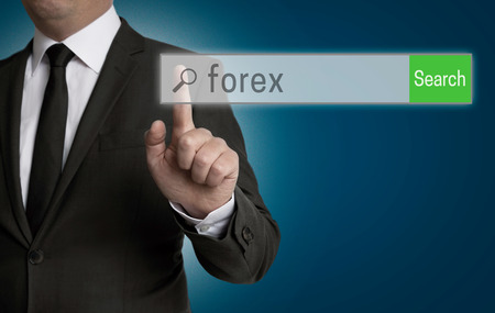internet browser: Forex internet browser is operated by businessman.
