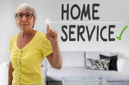 spaciousness: Home Service touchscreen is shown by senior.