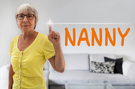 spaciousness: Nanny touchscreen is shown by senior.