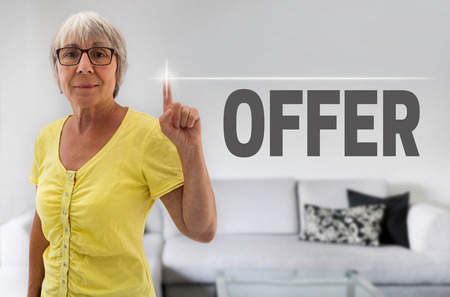 shown: offer touchscreen is shown by senior.