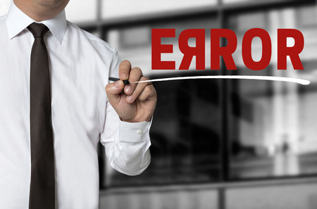 malfunction: error is written by businessman background.