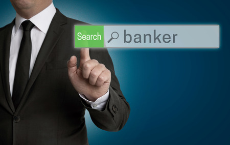 banker: banker browser is operated by businessman concept.