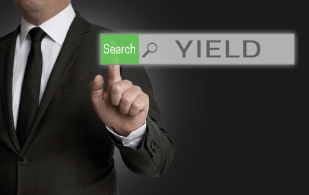 yield: Yield browser is operated by businessman concept.