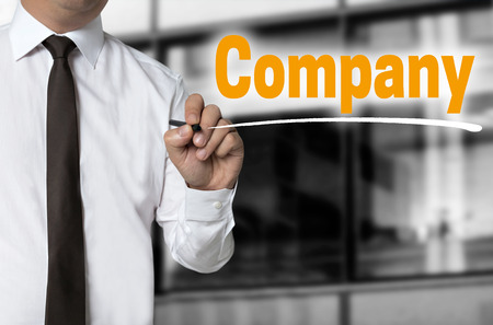 Company is written by businessman background concept.