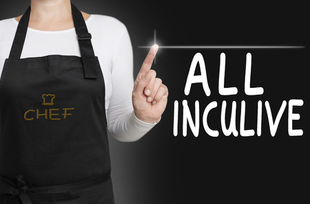 inclusive: all inclusive touchscreen is operated by chef concept.