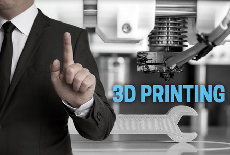 3d Printing and businessman concept. Standard-Bild