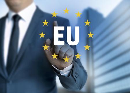 EU European Union touchscreen concept.