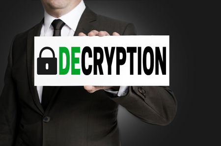concluded: decryption sign is held by businessman.