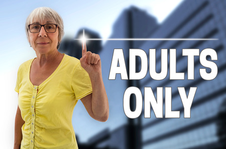 only senior adults: adults only touchscreen is shown by senior.