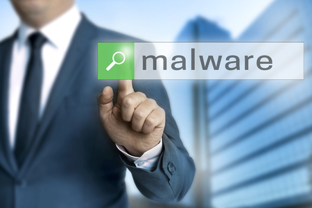 malware: malware browser is operated by businessman.