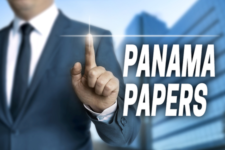 informant: Panama papers touchscreen is operated by businessman.