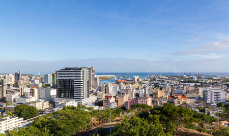louis: Port Louis Skyline capital of Mauritius by day.